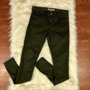 Topshop Moto Leigh Skinny Green Jeans